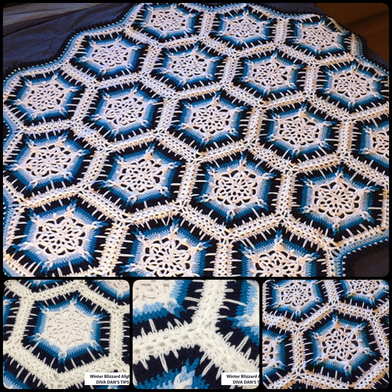 Knit Snowflake Afghan Pattern Related Keywords ...