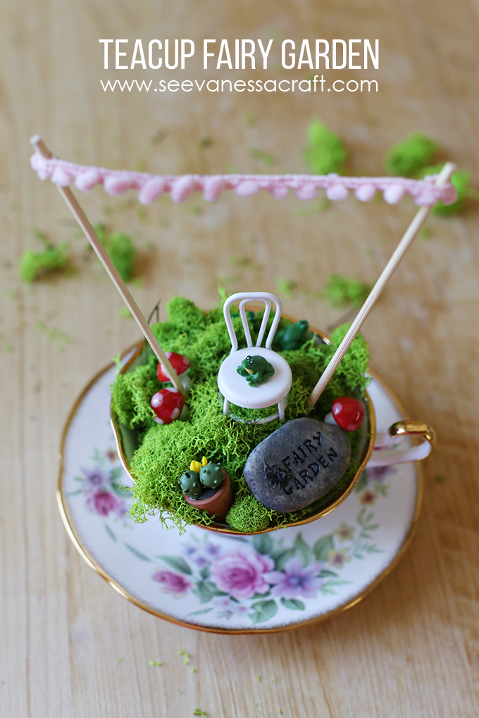 Teacup Fairy Garden with Tutorial