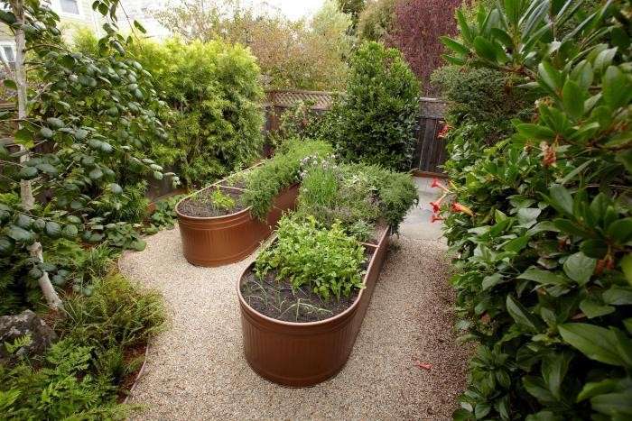 Water Troughs as Raised Garden Bed