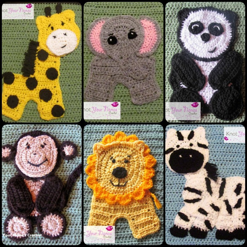 Crochet Zoo Blanket Base with Free Pattern -