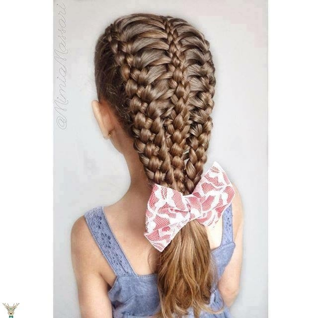 Cool Fishtail Hairstyles: 20+ Fancy Little Girl Braids Hairstyle
