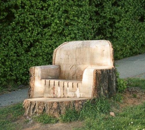 Attirant Tree Stump Chair 1