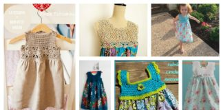 10+ Free Crochet and Fabric Dress Patterns