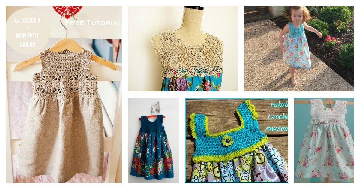 10 Free Crochet And Fabric Dress Patterns
