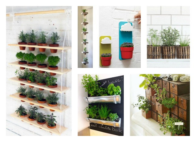 18 indoor herb garden ideas for Small indoor patio ideas