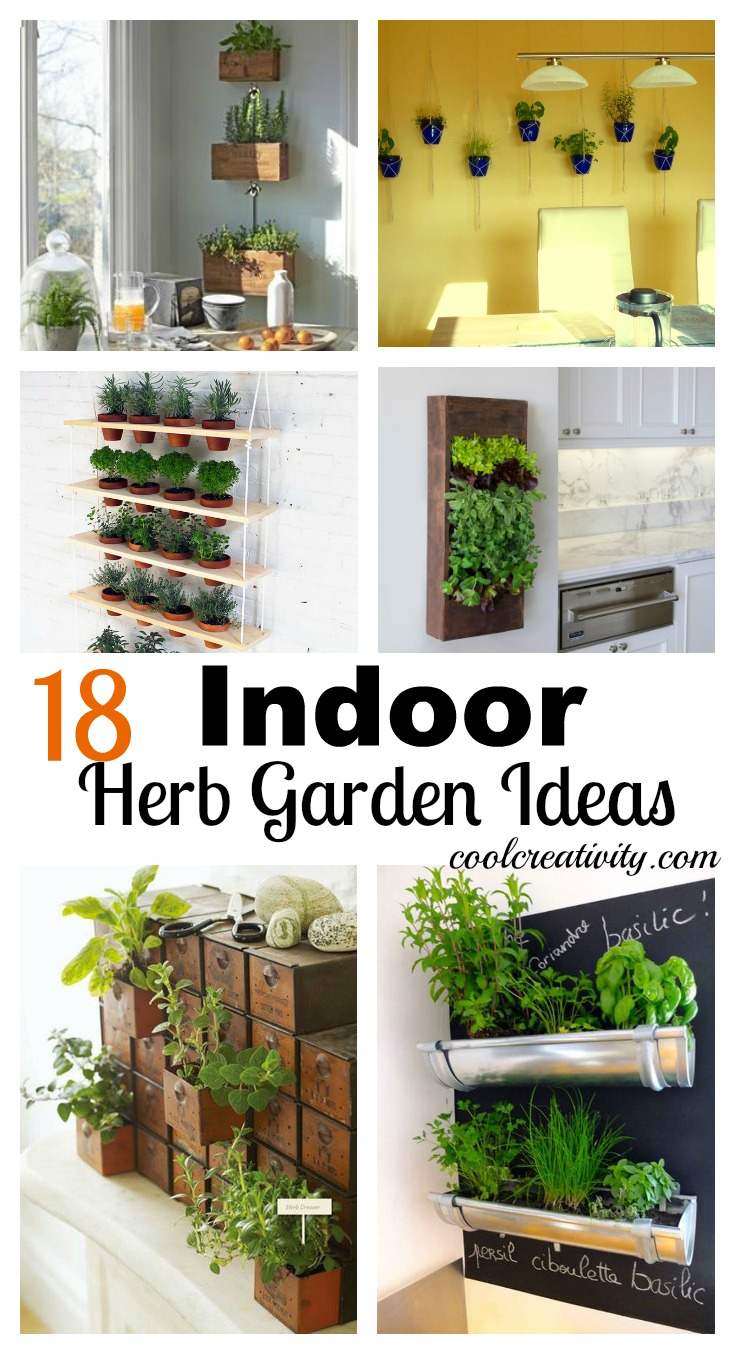 18 indoor herb garden ideas for Indoor garden design ideas