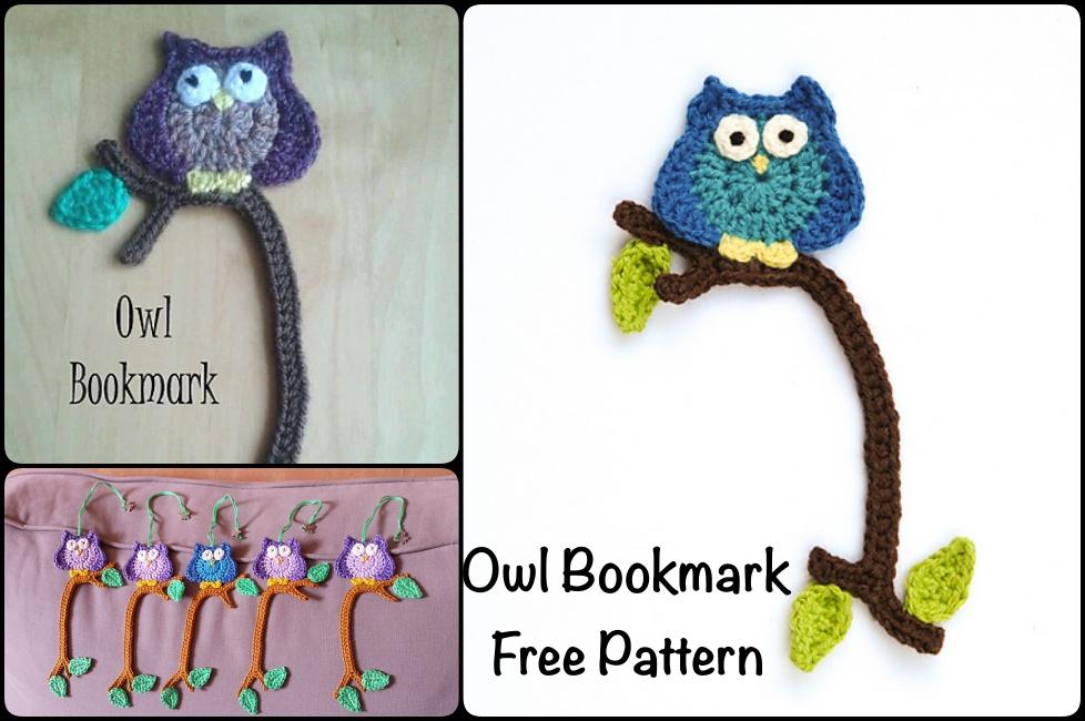 Little Owl Free Crochet Pattern : Crochet Owl Bookmark with Pattern