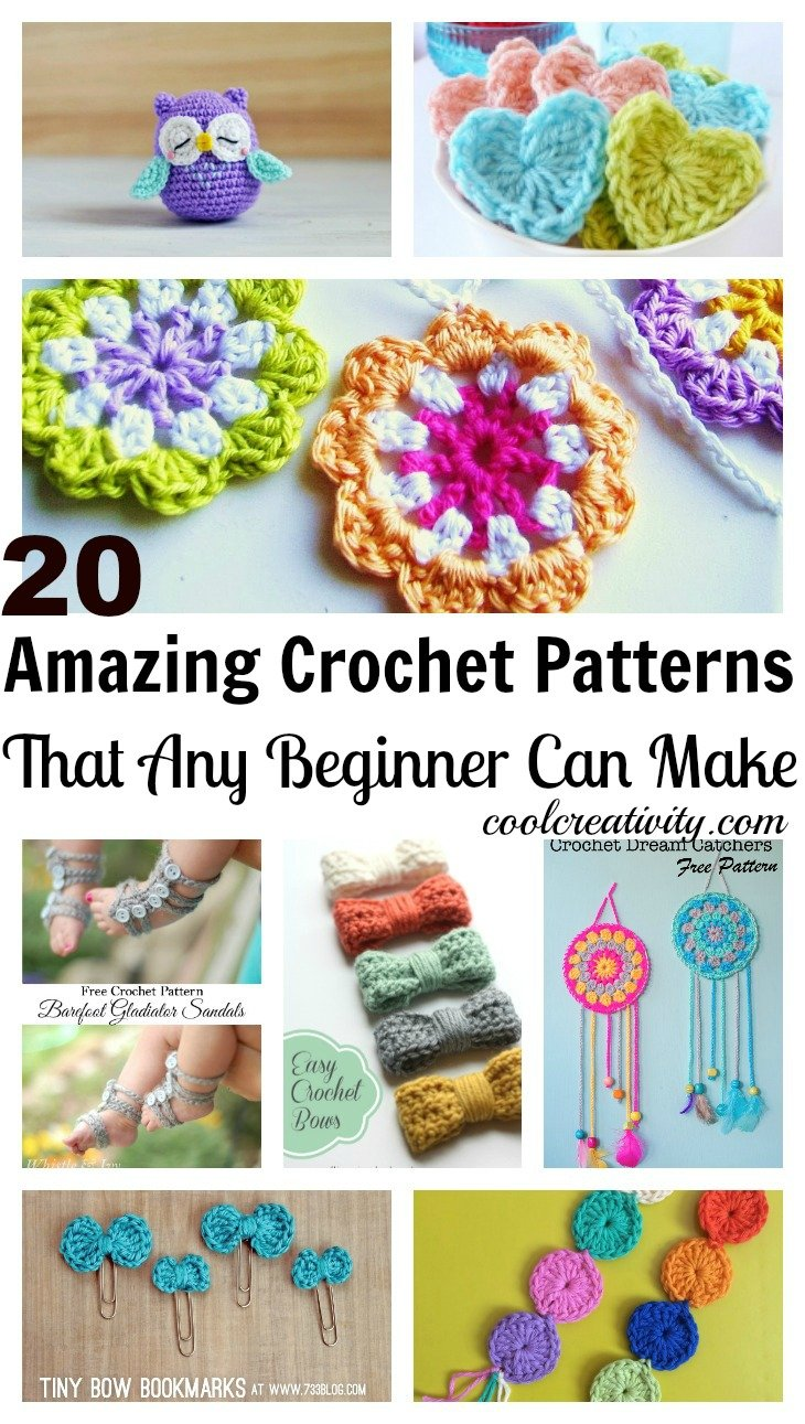How To Crochet Beginner Patterns : 20 Amazing Free Crochet Patterns That Any Beginner Can Make