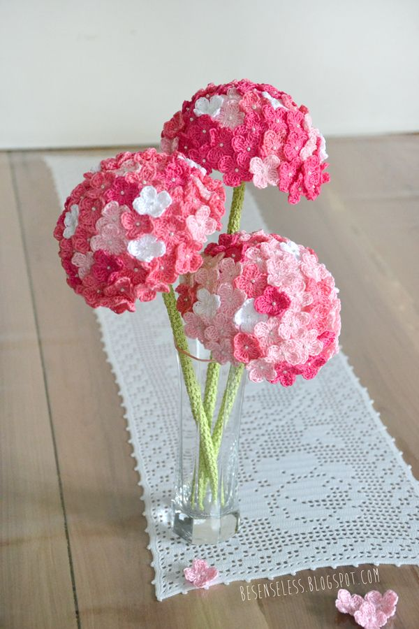 hydrangea flower with free pattern, Beautiful flower