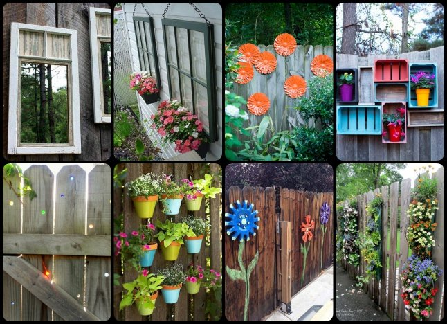 30 Cool Garden Fence Decoration Ideas