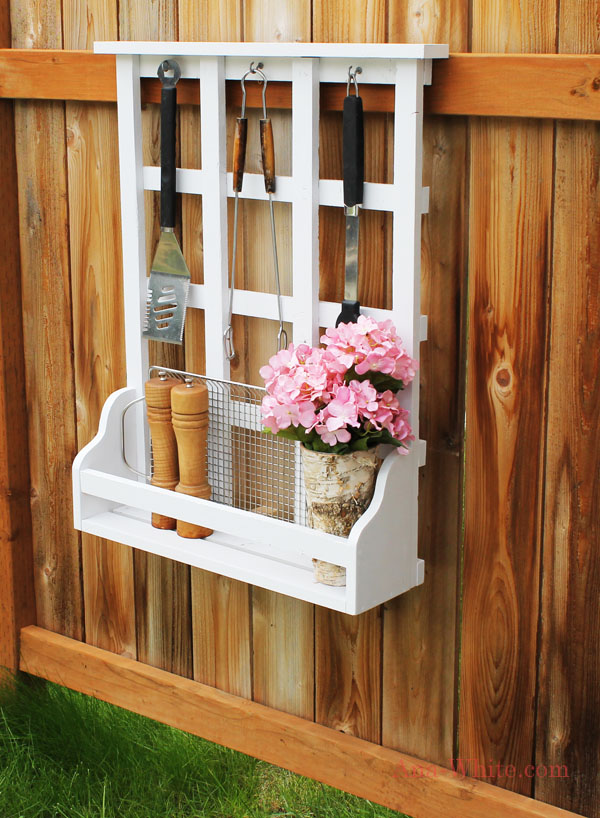 Outdoor Window Shelf Lattice
