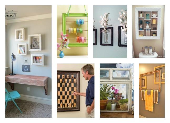 40 Diy Home Decor Ideas: 40+ Creative Reuse Old Picture Frames Into Home Decor Ideas