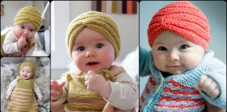 Knit Baby Turban Hat