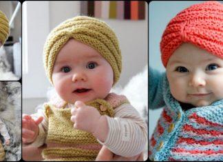 Knit Baby Turban Hat
