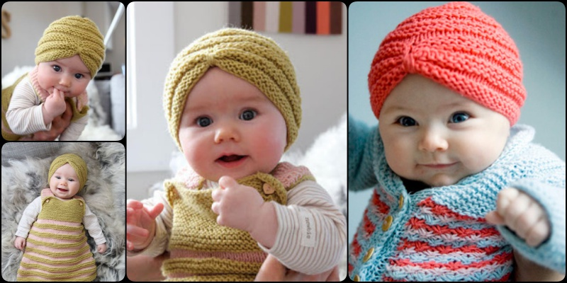 Knitting Pattern For Baby Turban : Knit Baby Turban Hat with Free Pattern