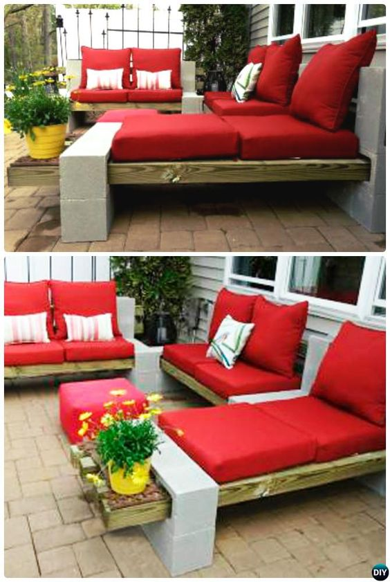 Diy Patio Bench Wood