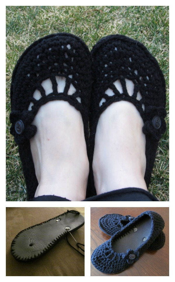 Crochet Flat with Flip Flop Soles