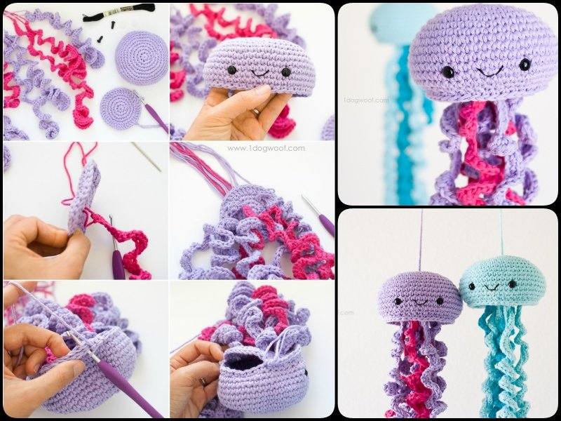 Crochet Patterns Jellyfish : Crochet Amigurumi Jellyfish with Free Pattern -