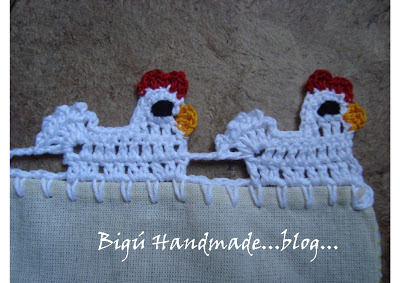 Crochet Little Hen Lace Edging with Free Pattern