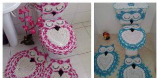 Crochet Owl Bathroom Set with Free Pattern
