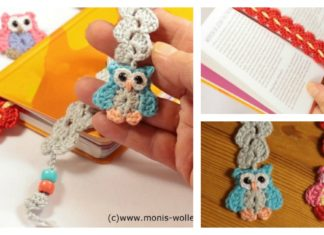 Crochet Owl Bookmark with Pattern