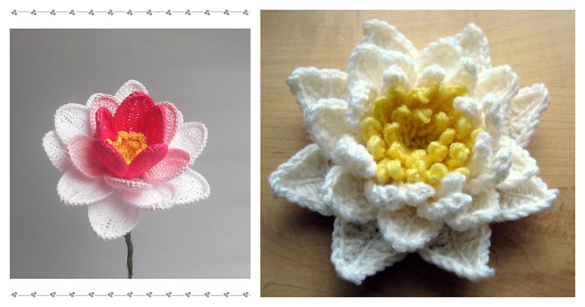 Crochet Pretty Water Lily With Free Pattern Video