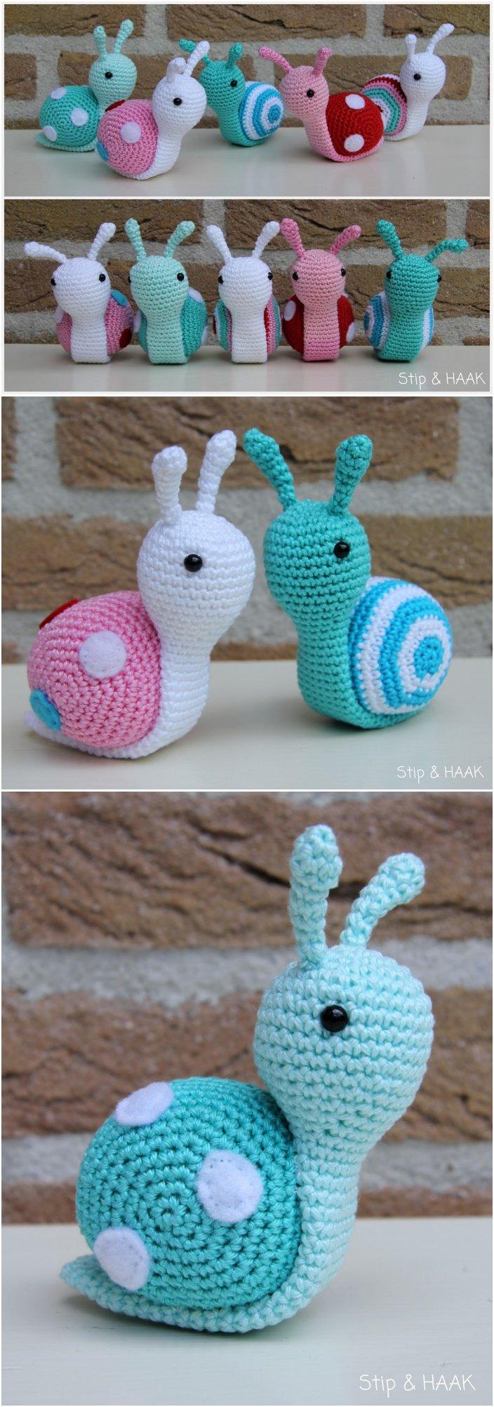 How To Crochet A Amigurumi : Crochet Amigurumi Snail Patterns