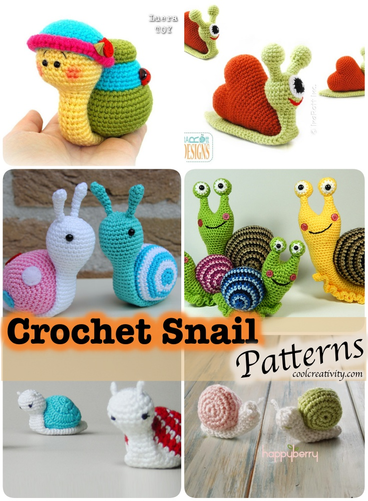 Tutorial Caracol Amigurumi Snail : Crochet Amigurumi Snail Patterns