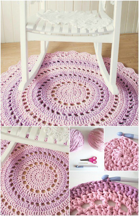 Crochet T Shirt Yarn Rug With Free Pattern And Tutorial Cool
