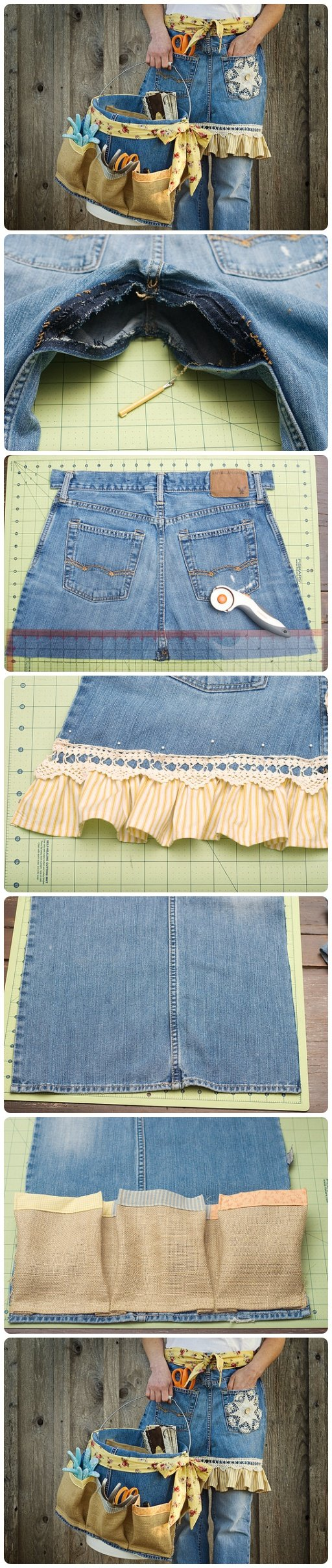 how to make an apron out of jeans