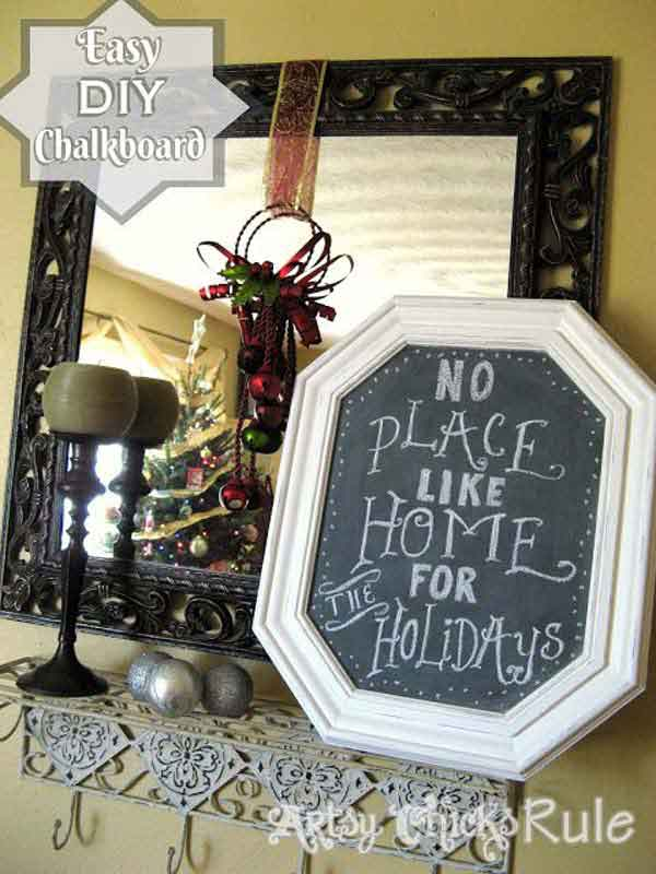 DIY Chalkboards From Old Pictures