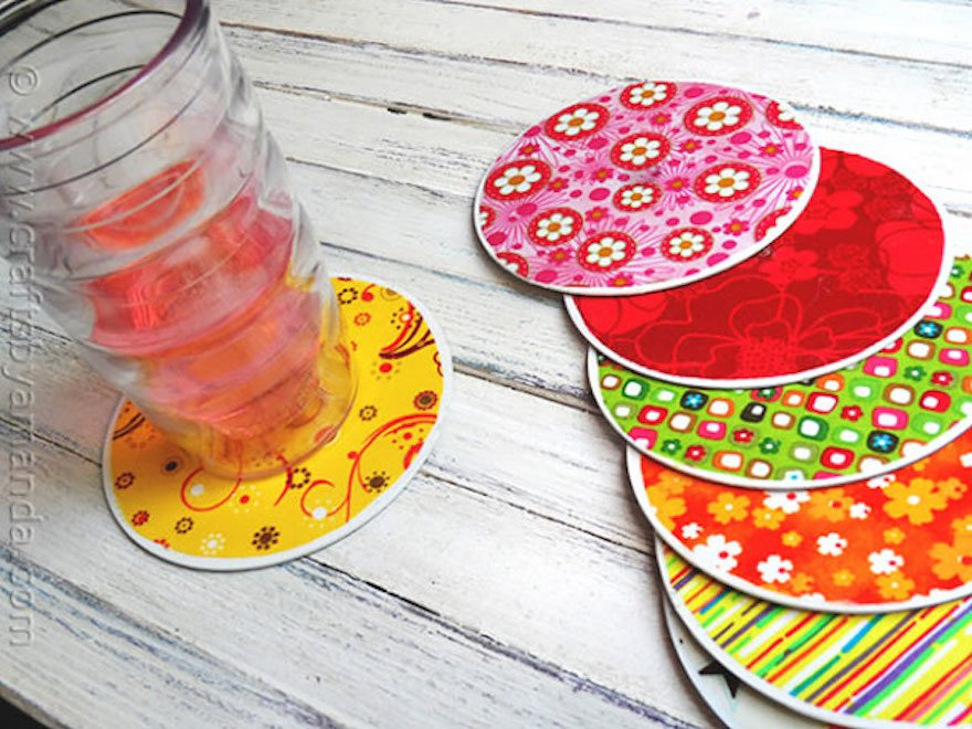 DIY Coasters with Old CD