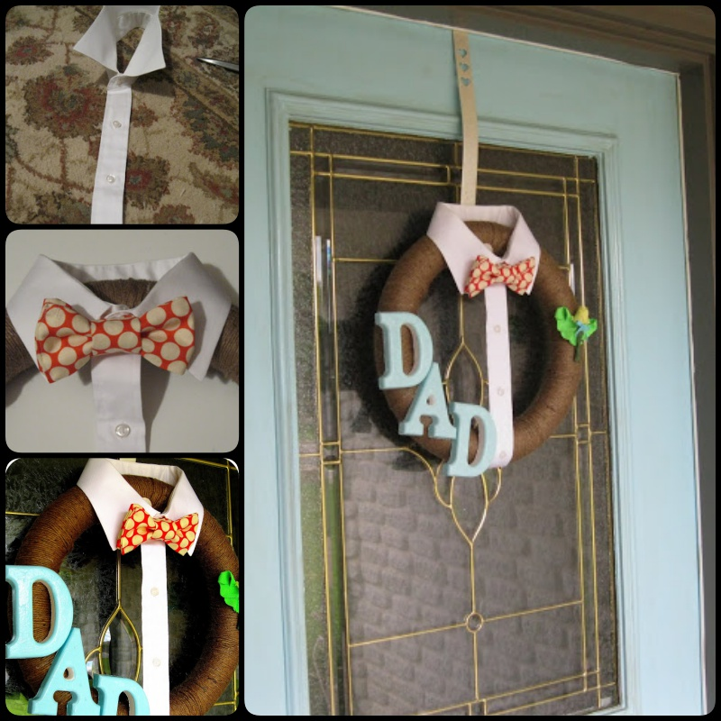 DIY DAD wreath for Father's Day