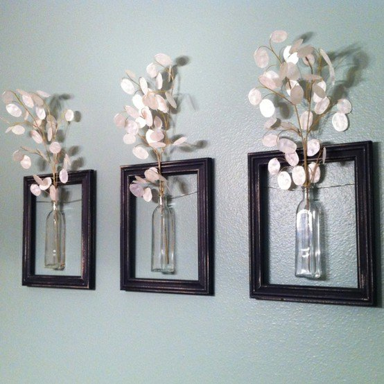 DIY Flower Wall Art With Picture Frames