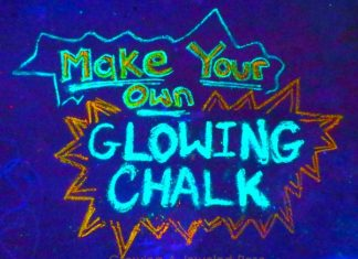 DIY Glowing Chalk
