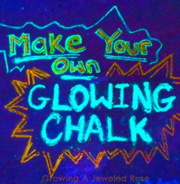 DIY Glowing Chalk