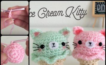 Crochet Kitty Ice Cream Amigurumi