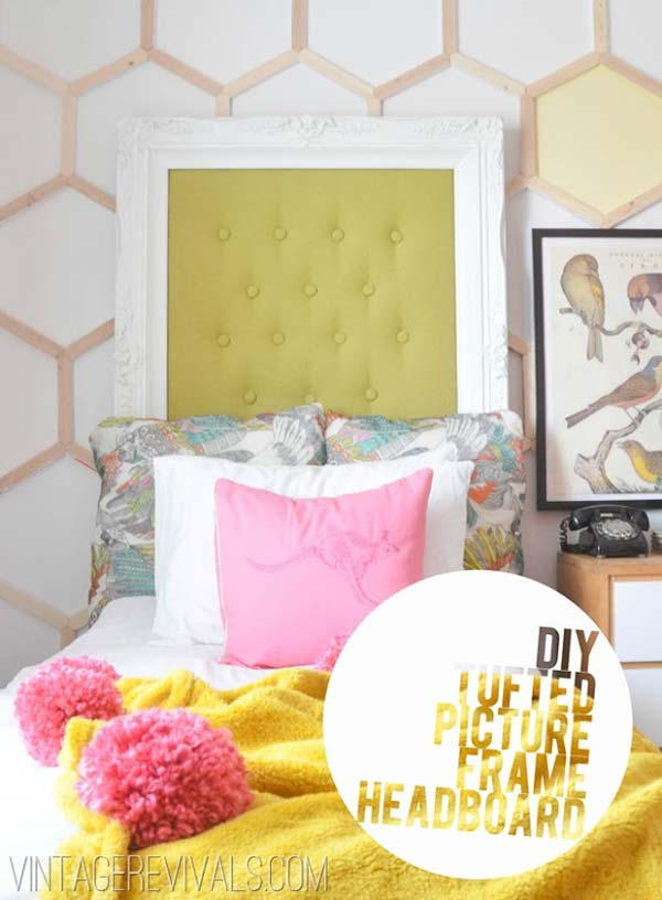 DIY Picture Frame Headboard