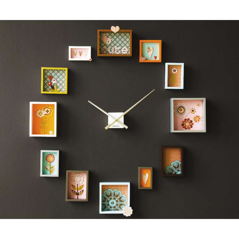 DIY Picture Frame Wall Clock - Cool Creativities
