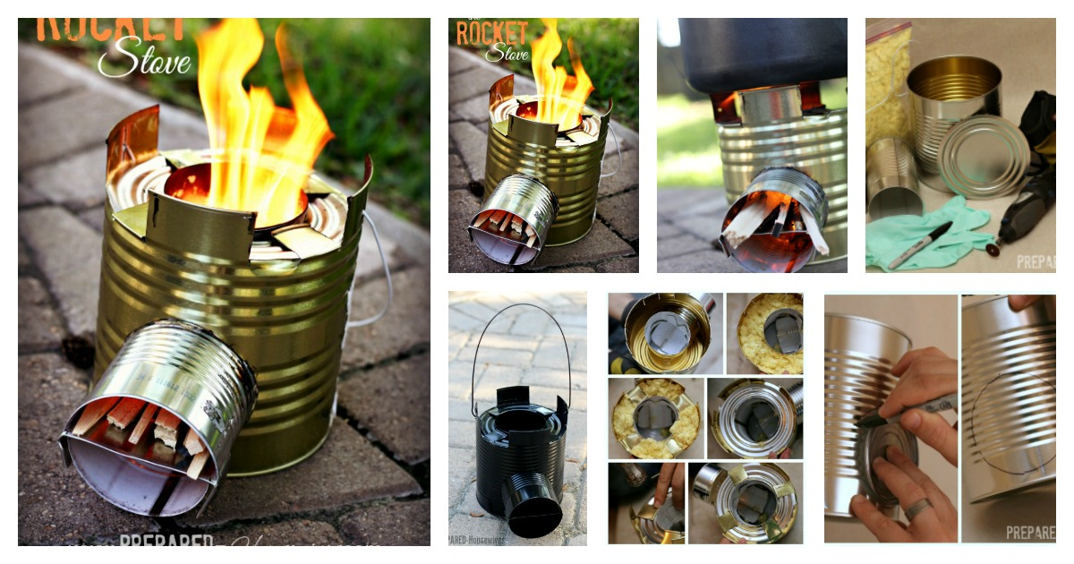 Diy Rocket Stove To Cook Food Or Heat Small Spaces