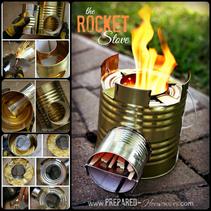 DIY Tin Can Rocket Stove to Cook Food or Heat Small Spaces