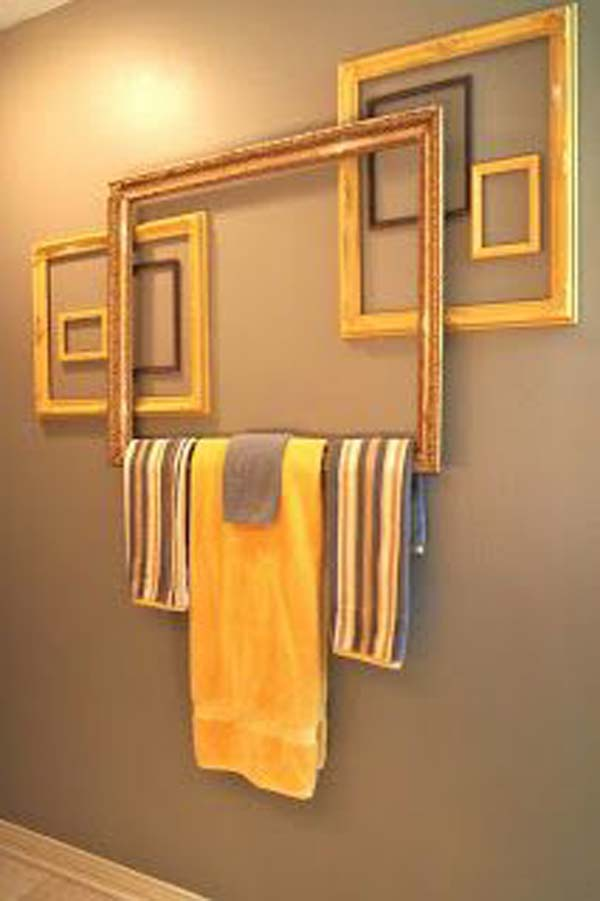 DIY Towel Bar From Frames - Cool Creativities