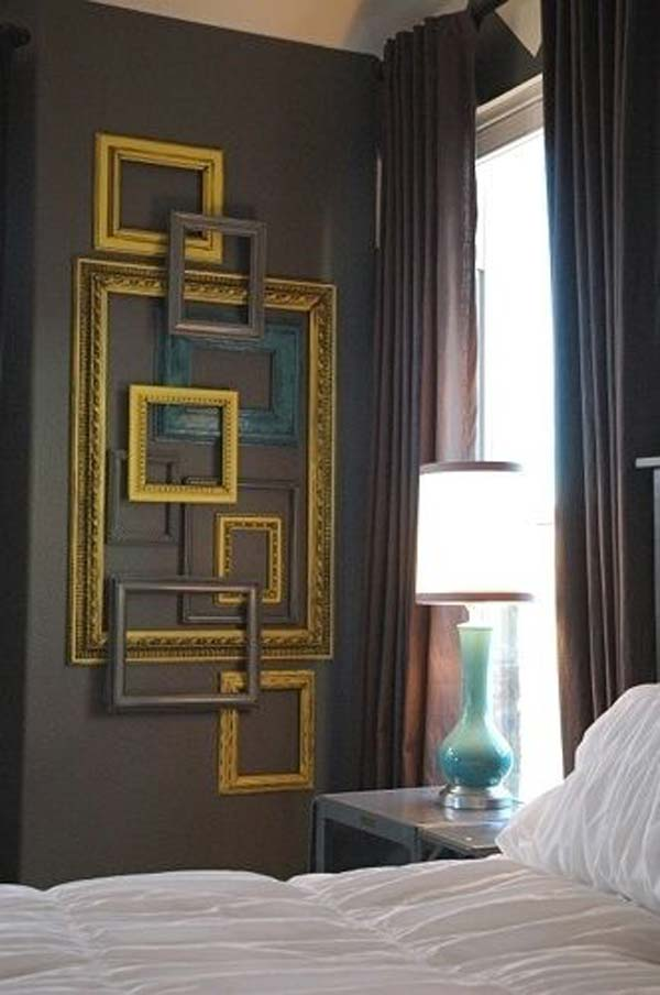 DIY Wall Art Out of Empty Picture Frames