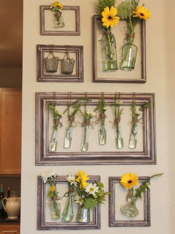 DIY Wall Decor with Old Picture Frames - Cool Creativities