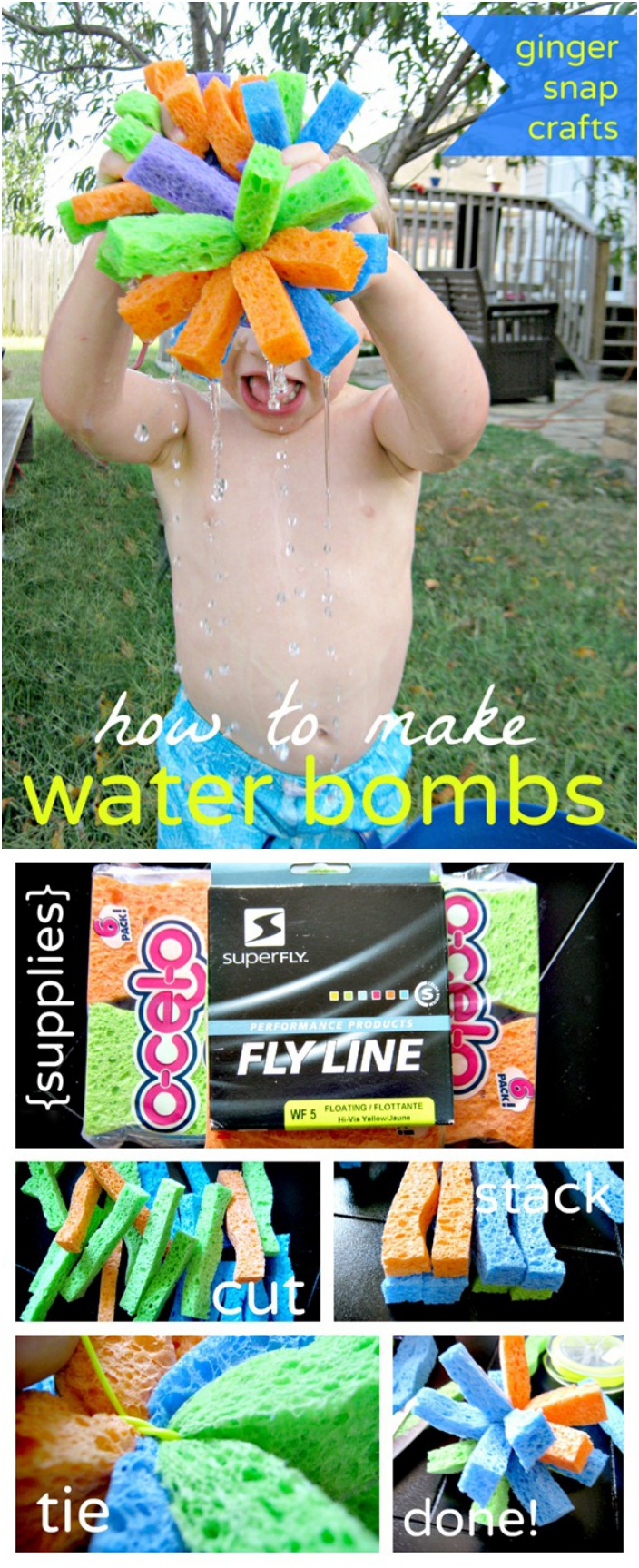 DIY Water Bombs with Sponges