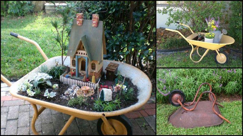 Upcycle Wheelbarrow for Garden