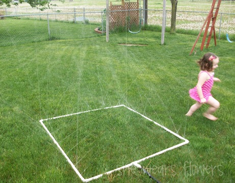 DIY large sprinkler with PVC Pipes