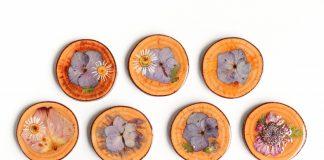 Dried Pressed Flower Coasters