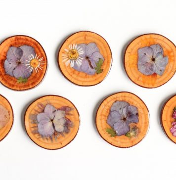 Dried Pressed Flower Coasters