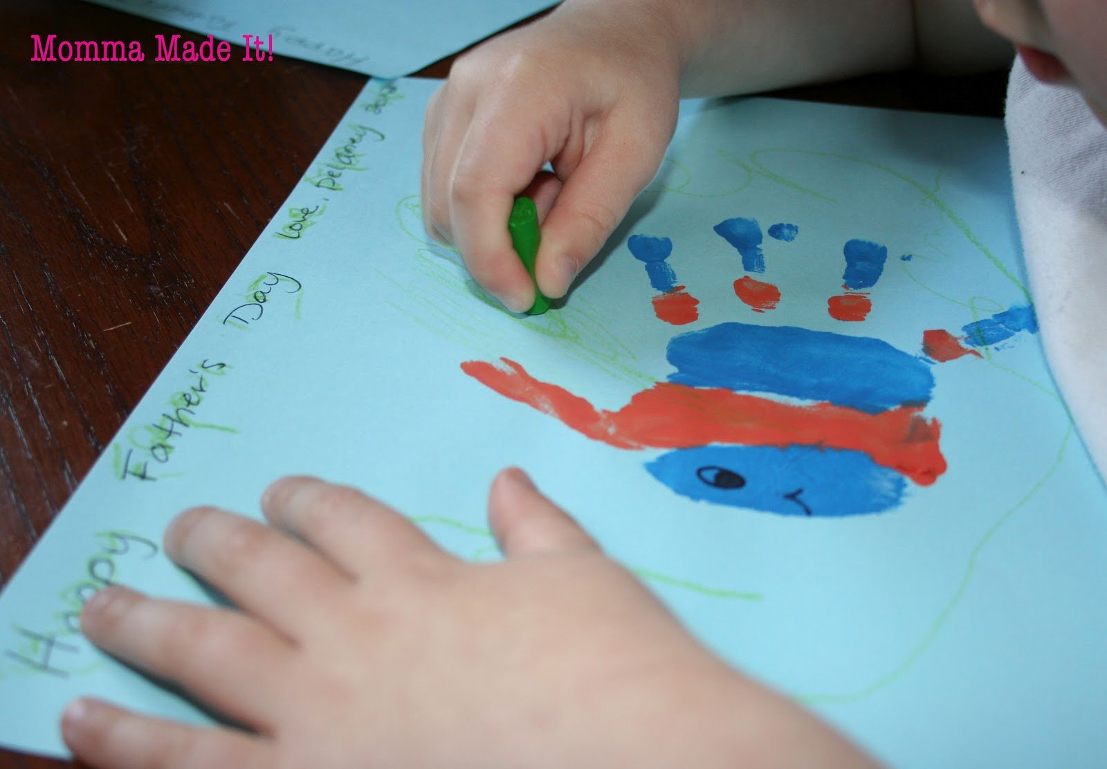 Father S Day Hand Print Art Craft Cool Creativities